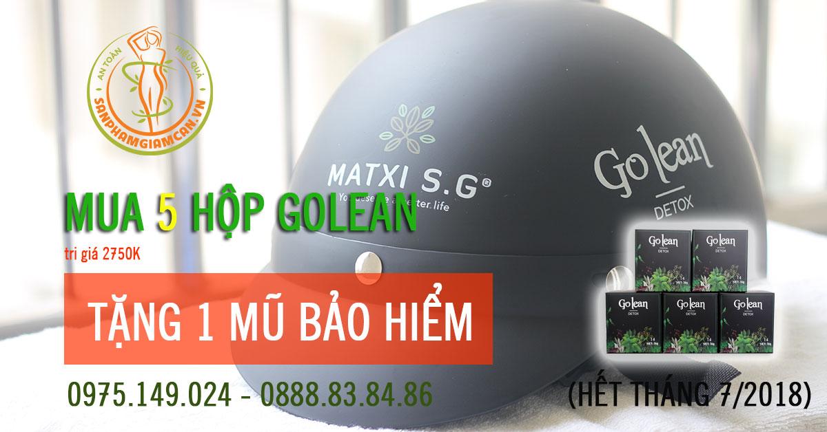 Khuyến mại Golean mua 5 hộp tặng 1 mũ bảo hiểm cao cấp