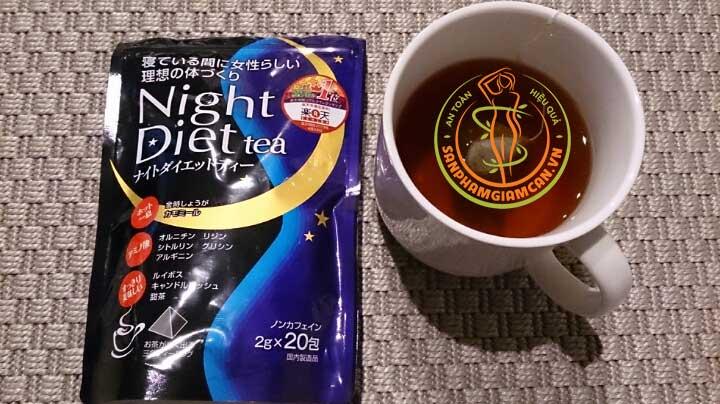 review trà giảm cân Orihiro Night Diet Tea