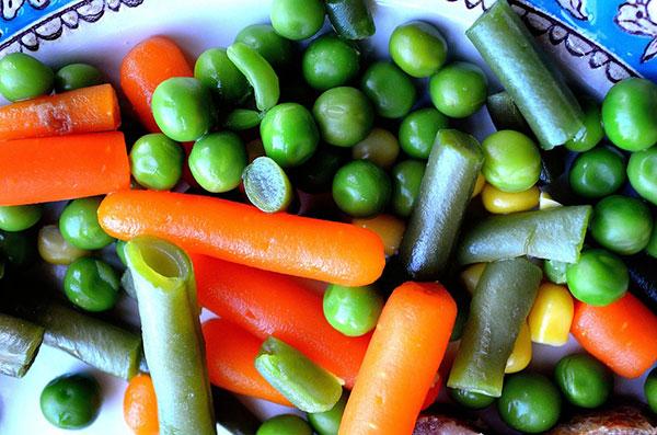 Cà rốt & đậu Hà Lan