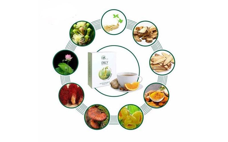 Thành phần trà giảm cân only Đinh Hương 12 day