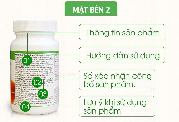 Mạt Bền 2 Trà thảo mộc giảm cân herbalife tea concentrate