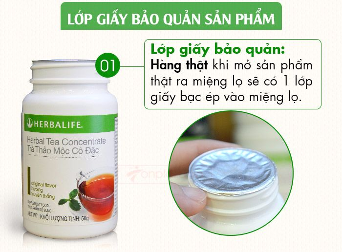 Lớp giấy bảo quản herbalife tea concentrate