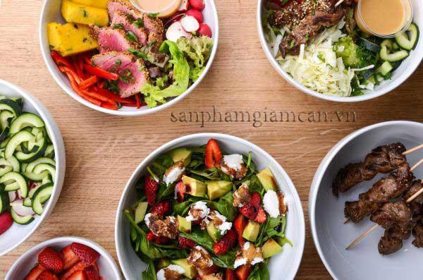 chế độ ăn uống đúng cách giúp giảm cân