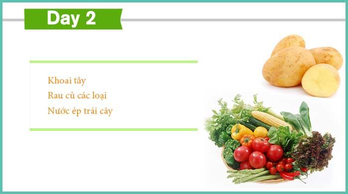 Thực đơn giảm cân ngày 2