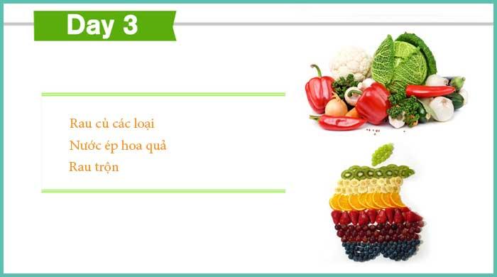 Thực đơn giảm cân ngày 3