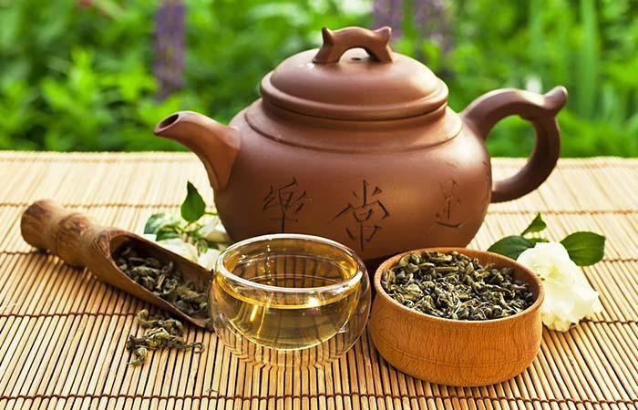 Kết hợp giữ Trà Ô Long và trà xanh