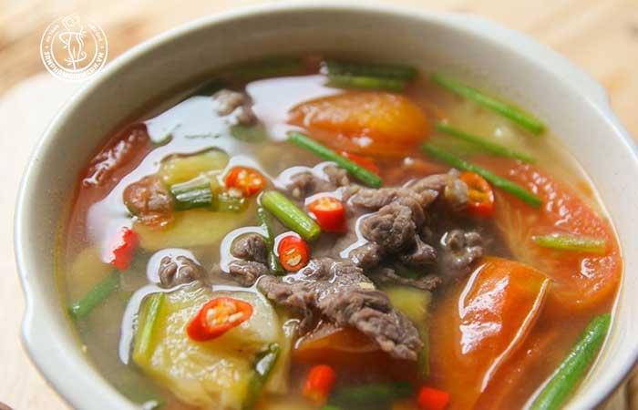 Canh thịt bò vừa thơm ngon mà lại giúp giảm chất béo
