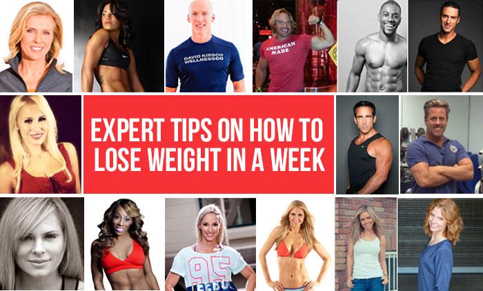 Làm thế nào để giảm cân trong một tuần