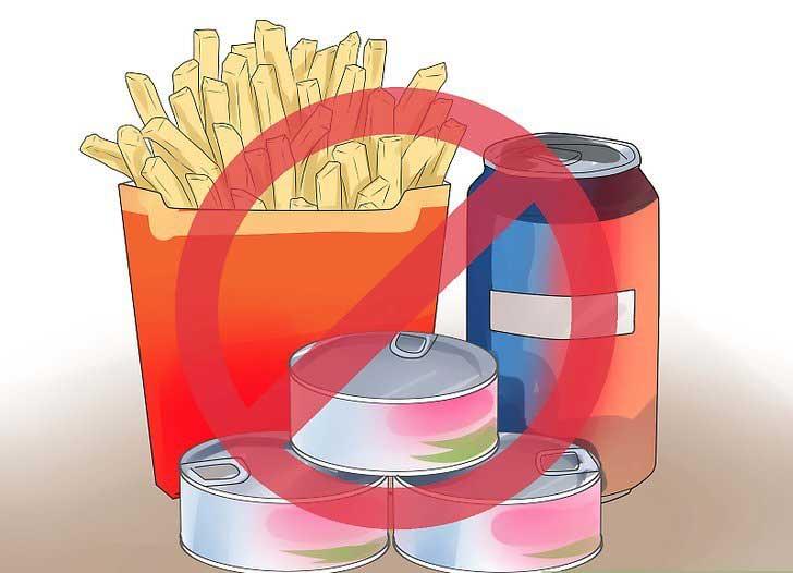 Tránh xa đường và thực phẩm chế biến
