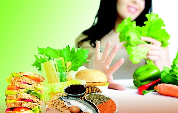 hạn chế trong thực đơn giảm cân