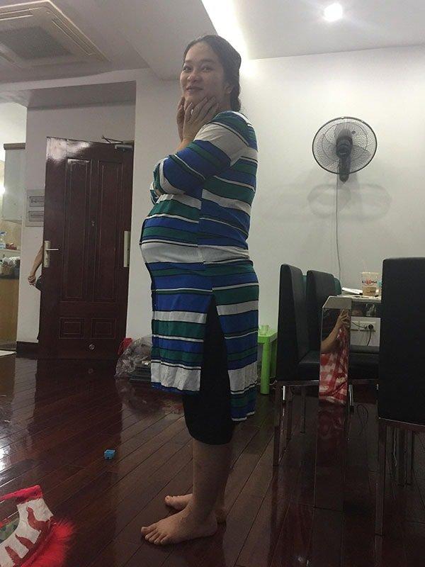 Thanh Hằng từng rất mập trong quá trình mang thai