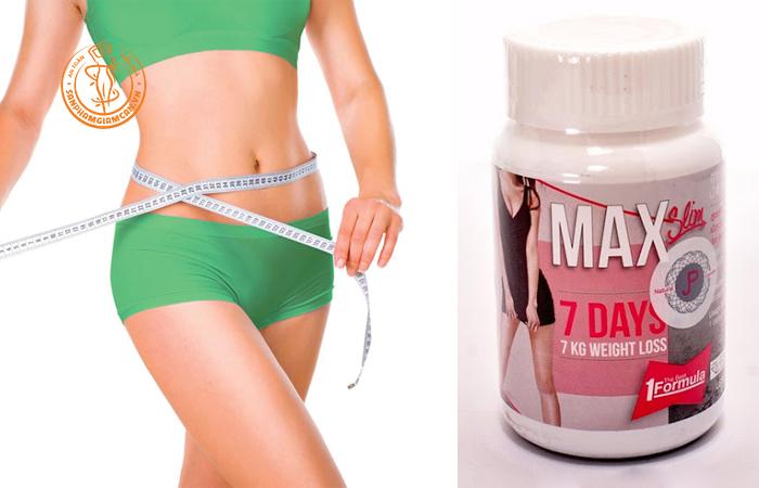 Max 7 day slim hỗ trợ giảm cân hiệu quả