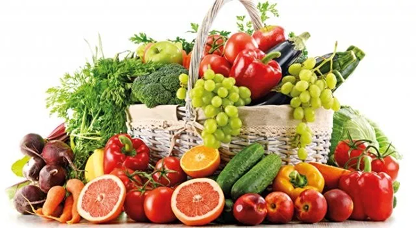 Ăn nhiều trái cây, rau xanh và giảm các chất bột đường