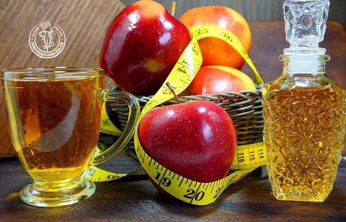 Công thức giảm cân tại nhà với giấm táo