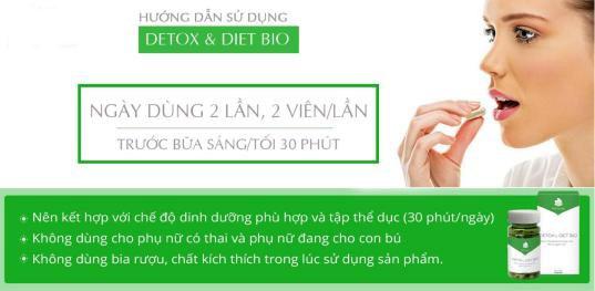 Hướng dẫn sử viên giảm cân Detox Diet Bio
