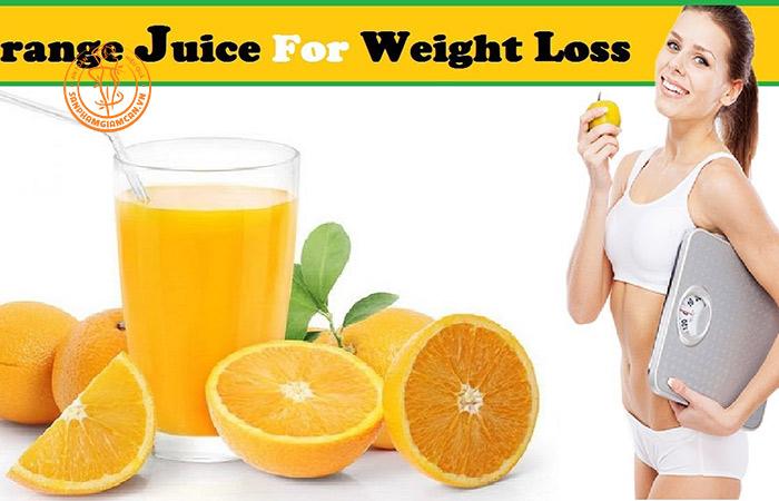 Cách uống nước cam giảm cân