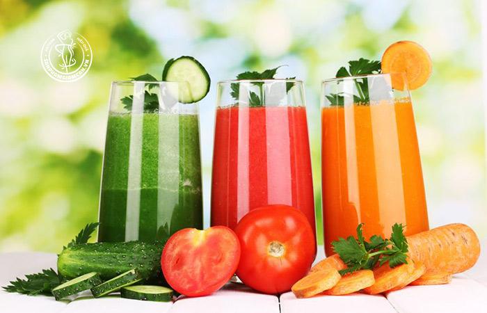 Lợi ích khi uống nước ép rau củ
