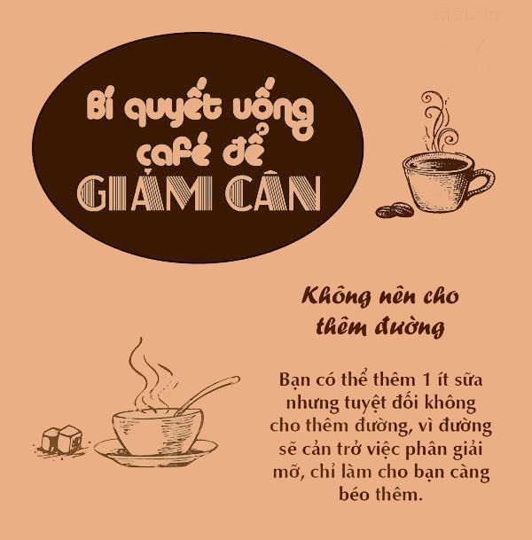 thực đơn giảm cân với cà phê