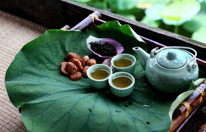 Cách pha trà lá sen