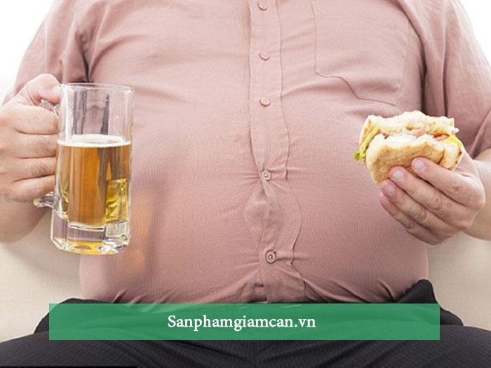 Bia + thói quen ăn uống không có kế hoạch