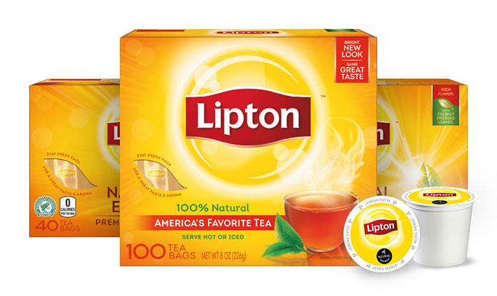 Trà Lipton sự kết hợp hoàn hảo của trà xanh với các thảo mộc