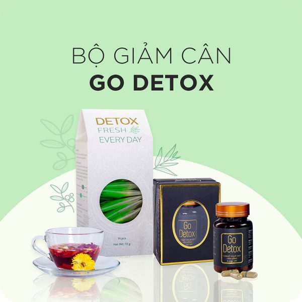 Combo Godetox và trà hoa thải độc