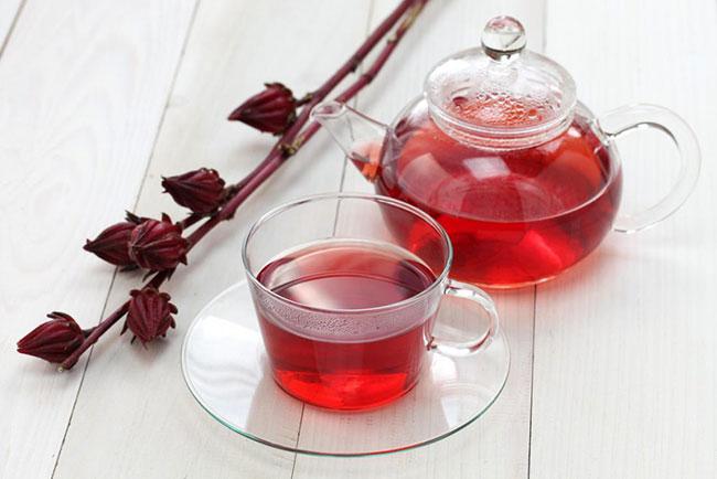 Trà hibiscus chứa nhiều chất bảo vệ sức khỏe