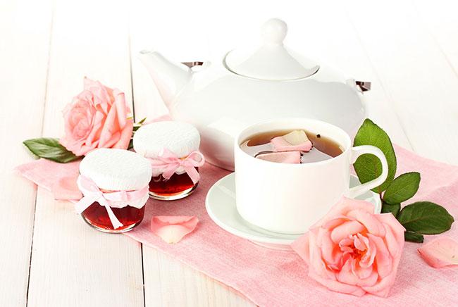Công thức pha trà hoa hồng tươi